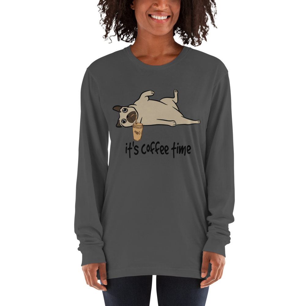 Its Coffee Time39 American Apparel 2007 Unisex Fine Jersey Long Sleeve T-Shirt Comfy style