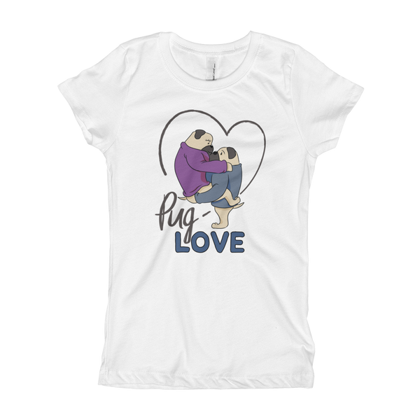 Pug Luv13 Girl's T-Shirt