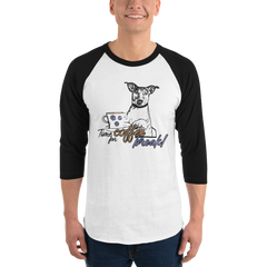 It's Coffee Time024 Tultex 245 Unisex Fine Jersey Raglan Tee w/ Tear Away Label