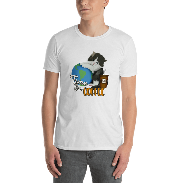 It's coffee time050 Gildan 64000 Unisex Softstyle T-Shirt with Tear Away Label