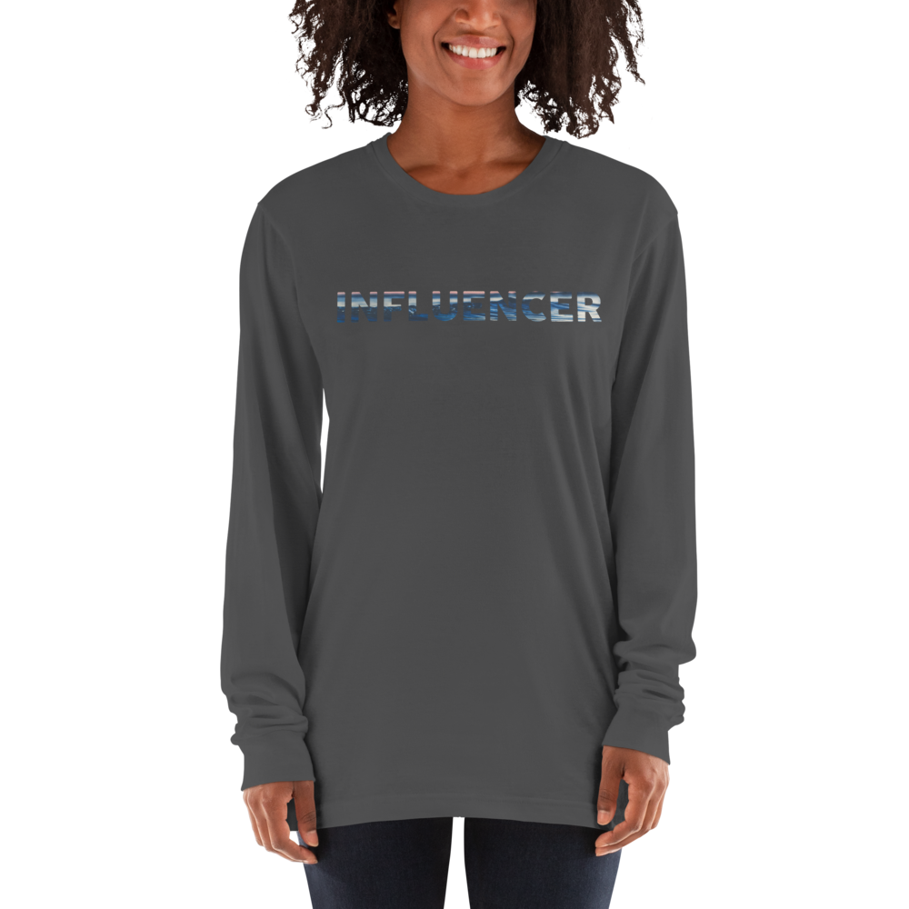 Influencer75 American Apparel 2007 Unisex Fine Jersey Long Sleeve T-Shirt Comfy style