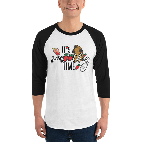 It's smoothie time06 Tultex 245 Unisex Fine Jersey Raglan Tee w/ Tear Away Label