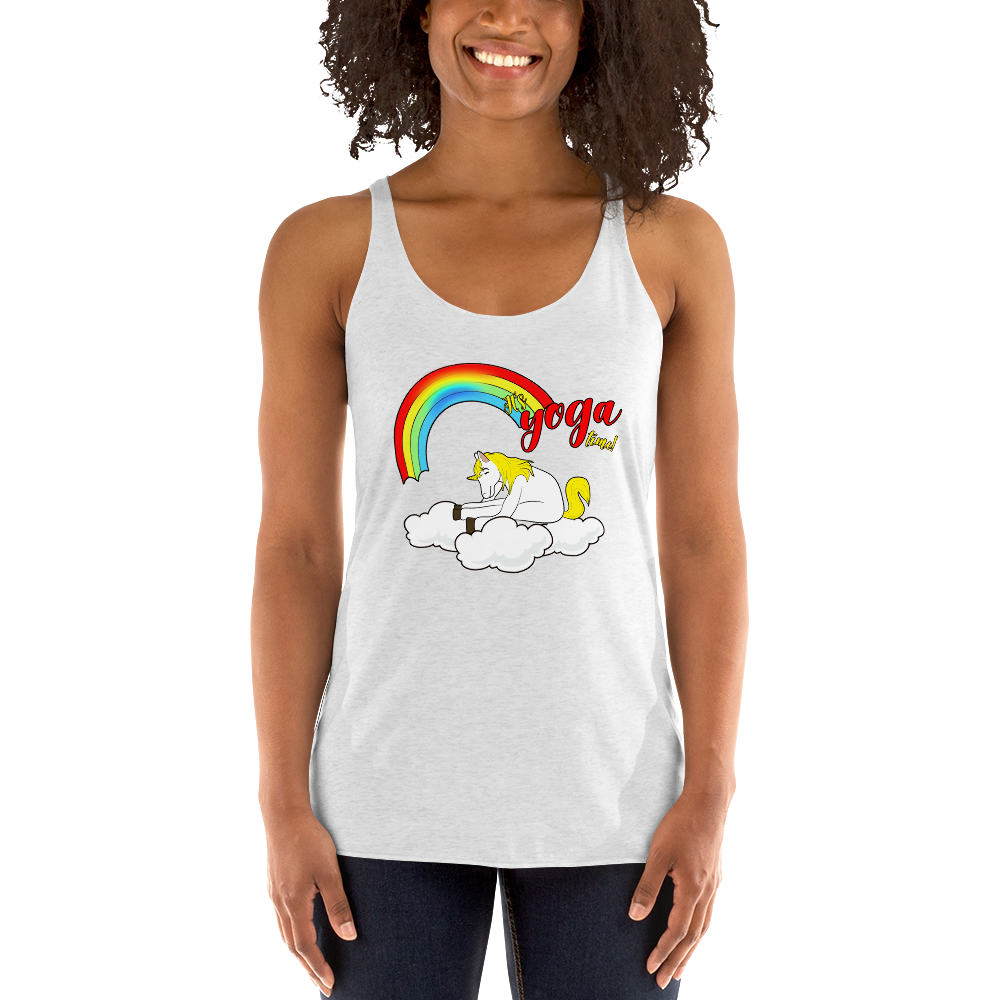 It's Yoga Time015 Next Level 6733 Ladies' Triblend Racerback Tank