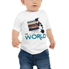 Explore The World0025  Bella + Canvas 3001B Baby Jersey Short Sleeve Tee with Tear Away Label
