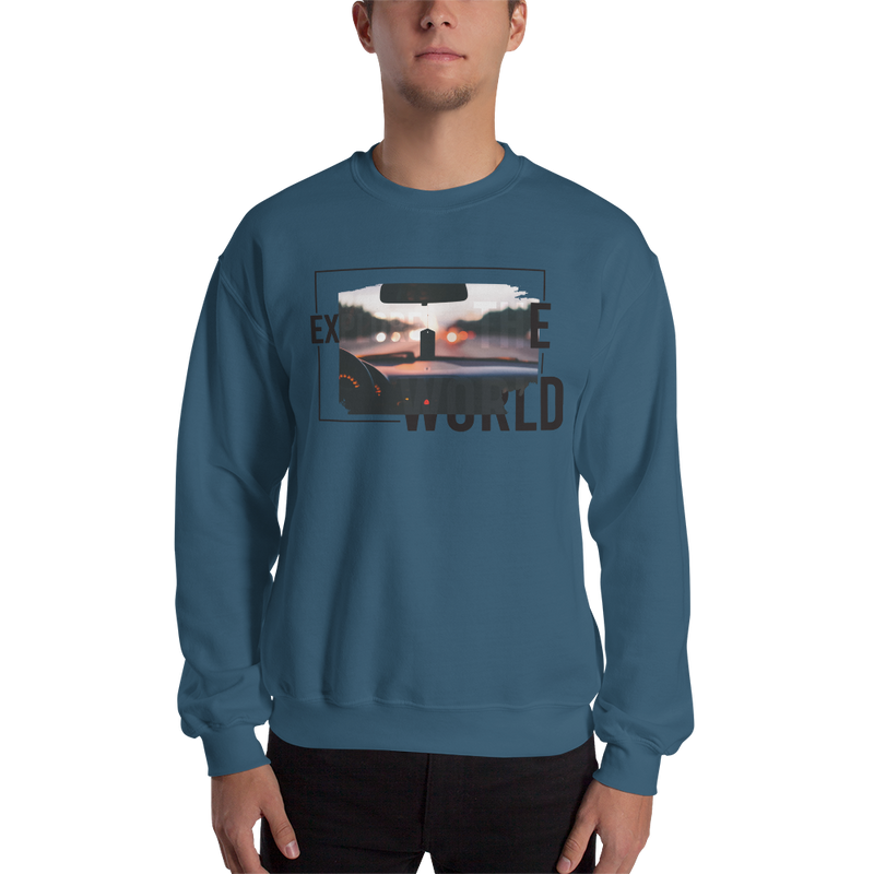 Explore The World0017 Sweatshirt 18000 Unisex Heavy Blend Crewneck Sweatshirt