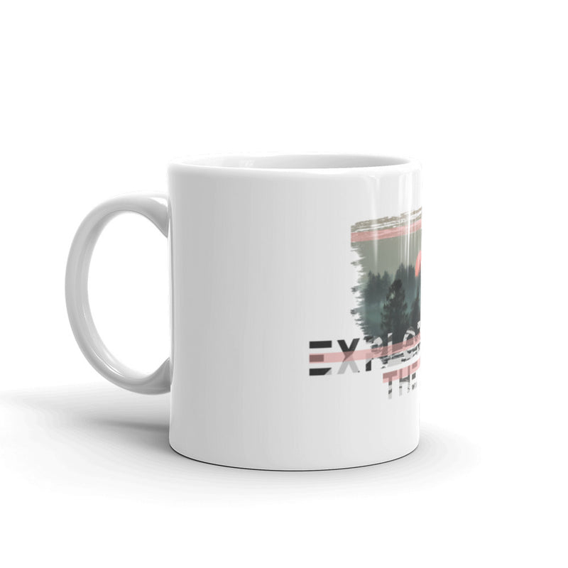 Explore The World0023 11OZ  White Glossy Mug
