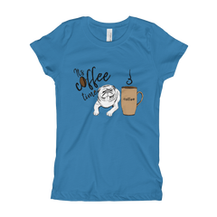 Its Coffee Time55 Girl's The Princess Tee with Tear Away Label