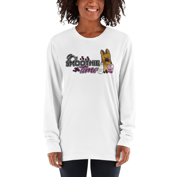It's smoothie time05 American Apparel 2007 Unisex Fine Jersey Long Sleeve T-Shirt Comfy style