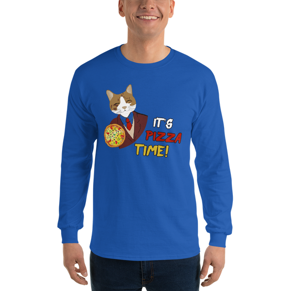 It's Pizza Time01 Gildan 2400 Ultra Cotton Long Sleeve T-Shirt