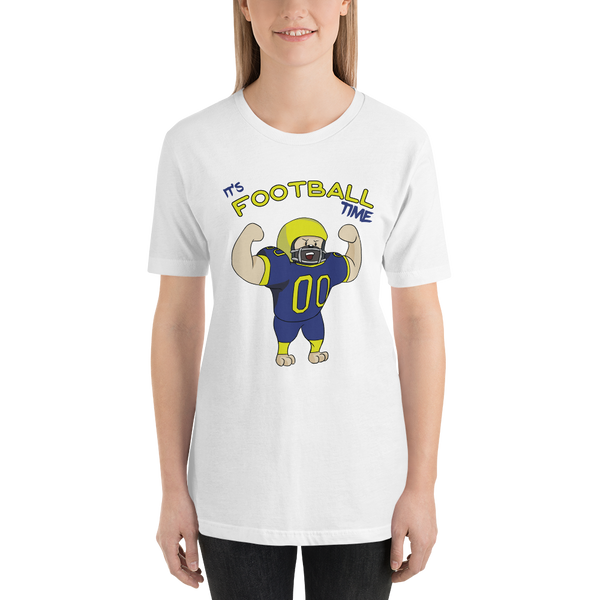 It's football time09 Bella + canvas 3001 unisex Jersey Style