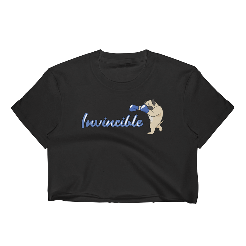 Invincible004 Los Angeles Apparel 2332 Fine Jersey Short Sleeve Cropped T-Shirt w/ Tear Away Label