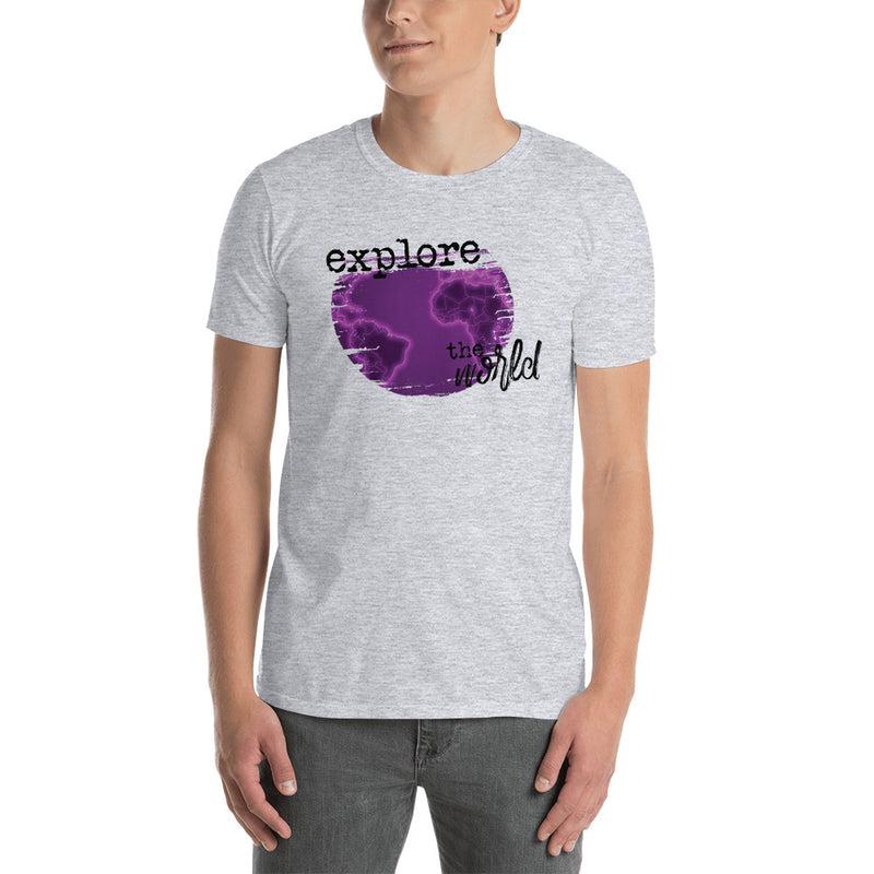 Explore The World0028 Gildan 64000 Unisex Softstyle T-Shirt with Tear Away Label - libitalux