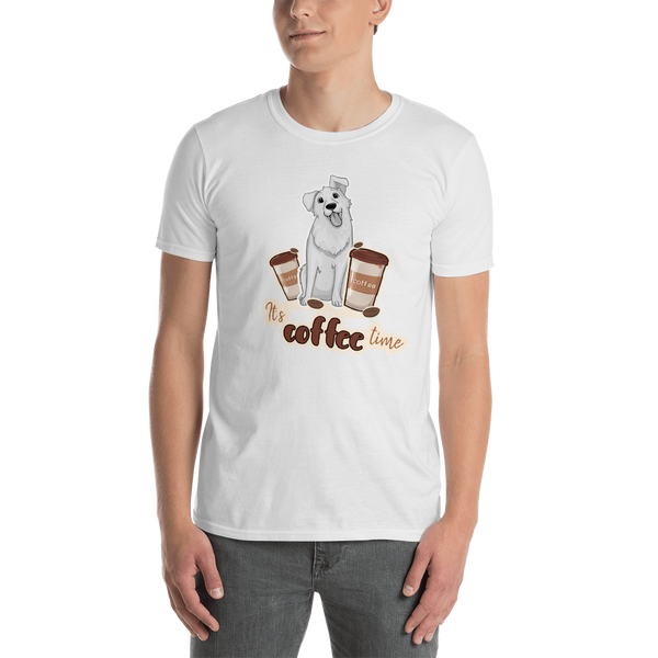 It's coffee time046 Gildan 64000 Unisex Softstyle T-Shirt with Tear Away Label