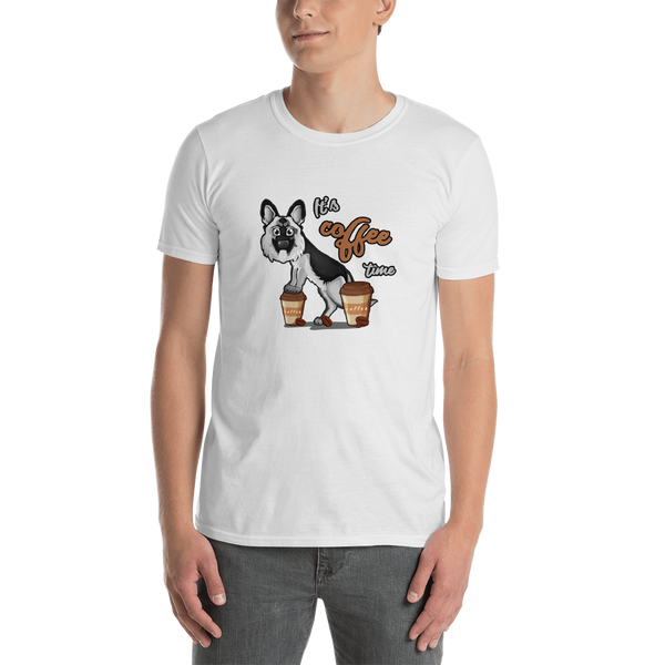 It's coffee time049 Gildan 64000 Unisex Softstyle T-Shirt with Tear Away Label