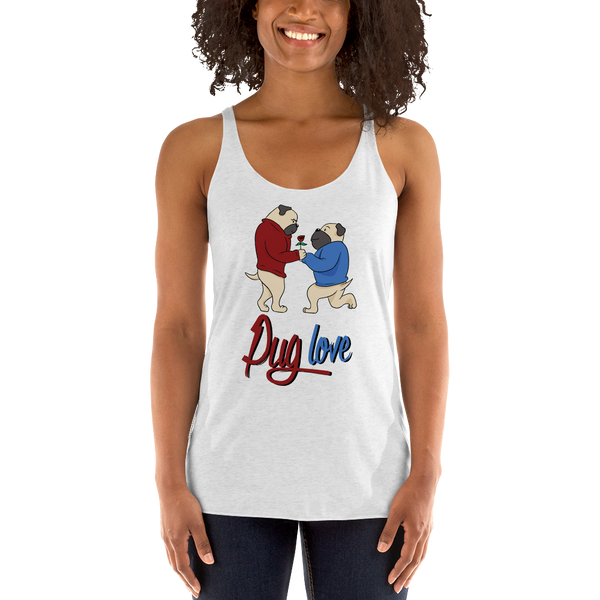 Pug luv Women Tank Tops