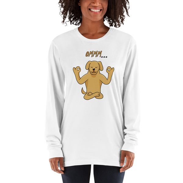 It's Yoga Time042 American Apparel 2007 Unisex Fine Jersey Long Sleeve T-Shirt Comfy style