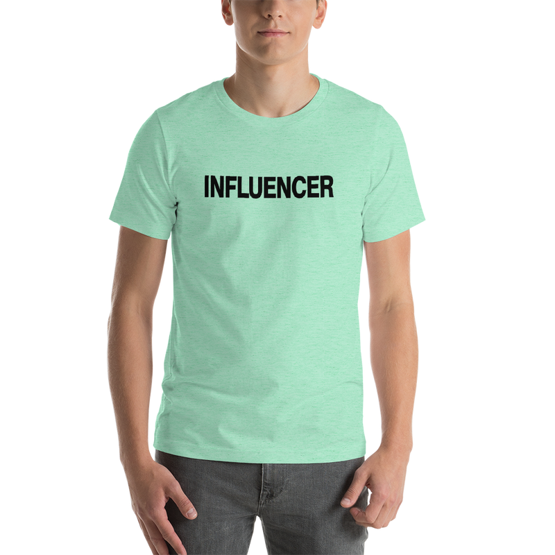Influencer00141 Bella + Canvas 3001 Unisex Short Sleeve Jersey T-Shirt with Tear Away Label