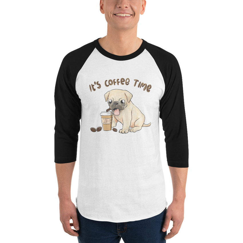 It's Coffee Time053 Tultex 245 Unisex Fine Jersey Raglan Tee w/ Tear Away Label