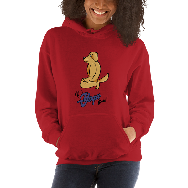 It's Yoga Time003 Gildan 18500 Unisex Heavy Blend Hooded Sweatshirt Heavy blend