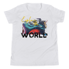 Explore The World0019 Bella + Canvas 3001Y Youth Short Sleeve Tee with Tear Away Label