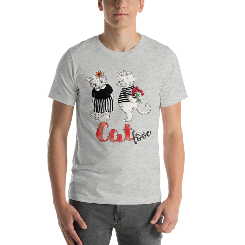 Cat Love002 Short-Sleeve Unisex T-Shirt - libitalux