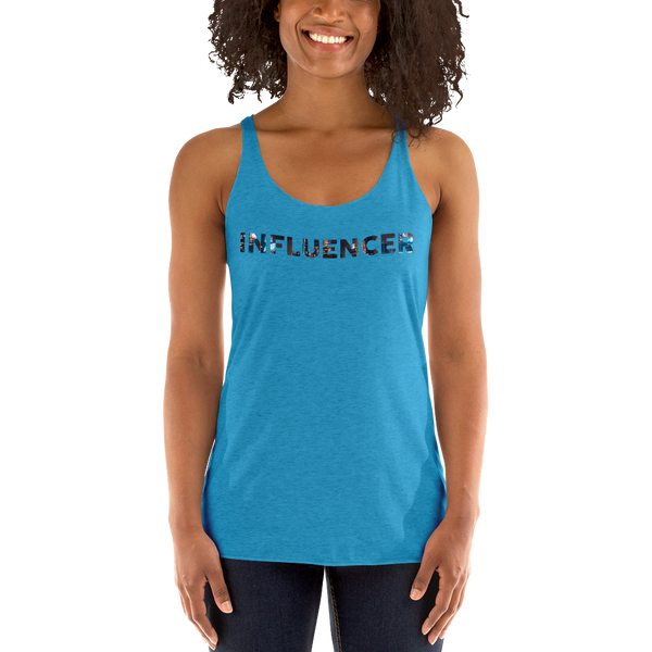 Influencer058 Next Level 6733 Ladies' Triblend Racerback Tank Triblend Racerback Tank