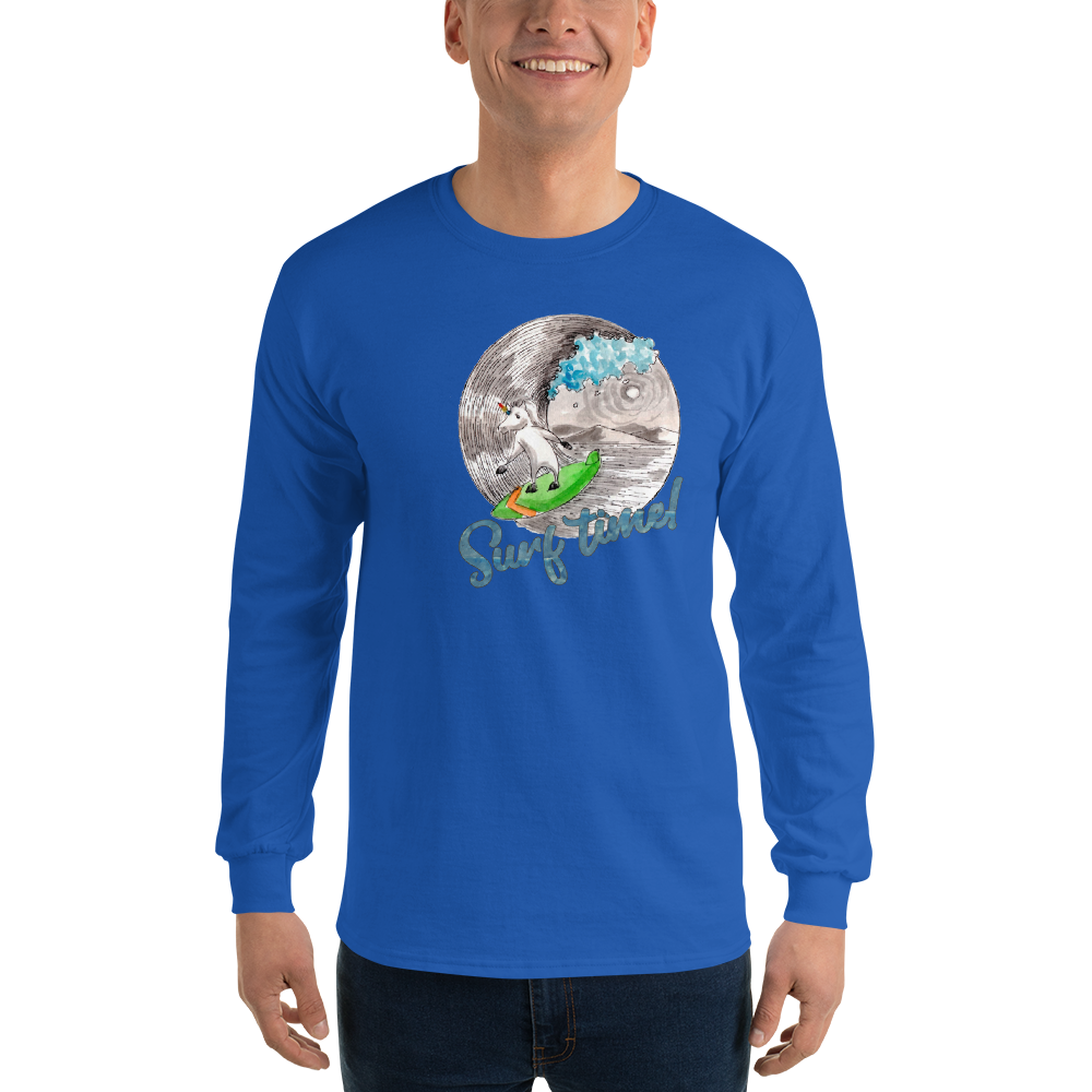 It's Surfing Time01 Gildan 2400 Ultra Cotton Long Sleeve T-Shirt