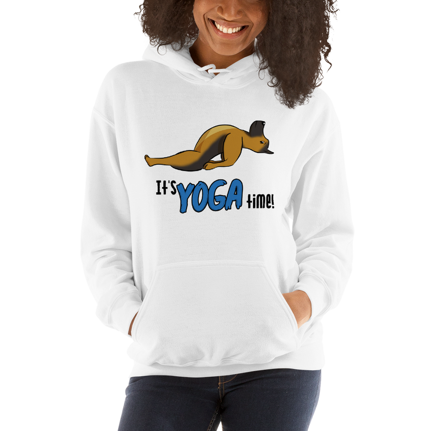 It's Yoga Time017 Gildan 18500 Unisex Heavy Blend Hooded Sweatshirt Heavy blend