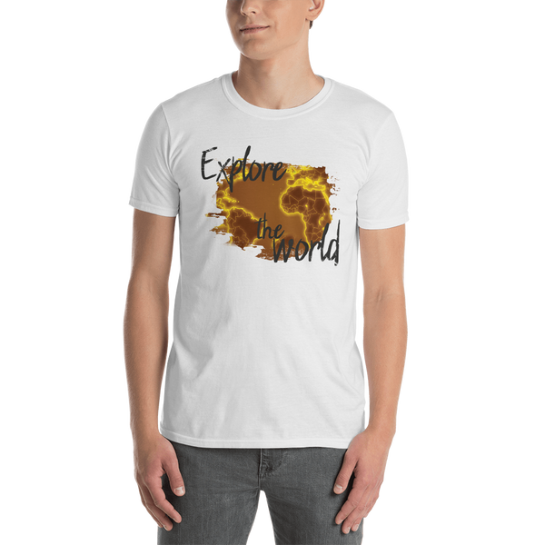 Explore The World0017 Gildan 64000 Unisex Softstyle T-Shirt with Tear Away Label