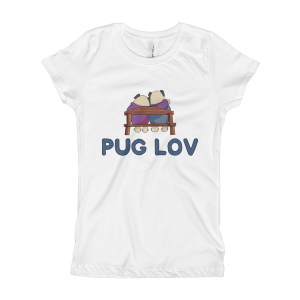 Pug Luv12 Girl's T-Shirt