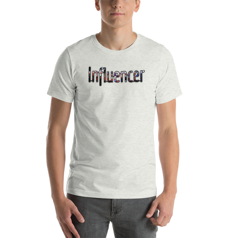 Influencer0025 Bella + Canvas 3001 Unisex Short Sleeve Jersey T-Shirt with Tear Away Label