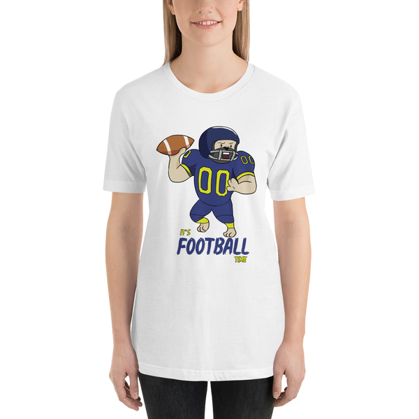 It's football time01 Bella + canvas 3001 unisex  Jersey Style