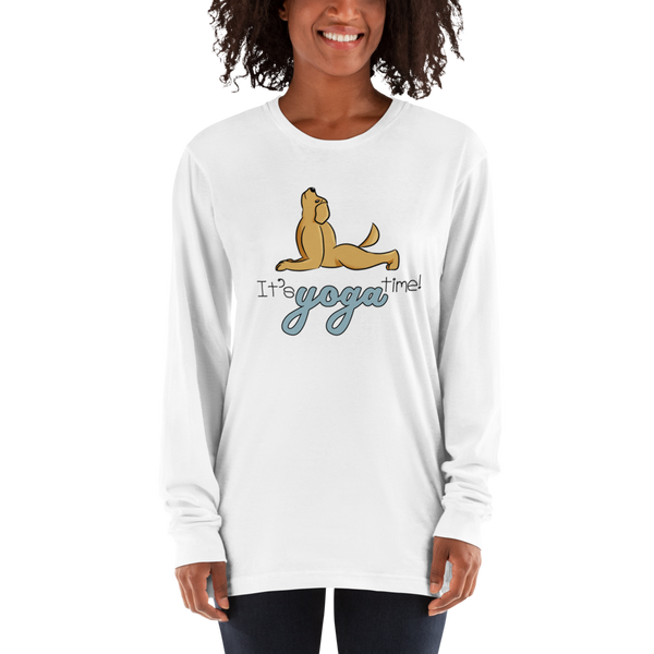 It's Yoga Time022 American Apparel 2007 Unisex Fine Jersey Long Sleeve T-Shirt Comfy style