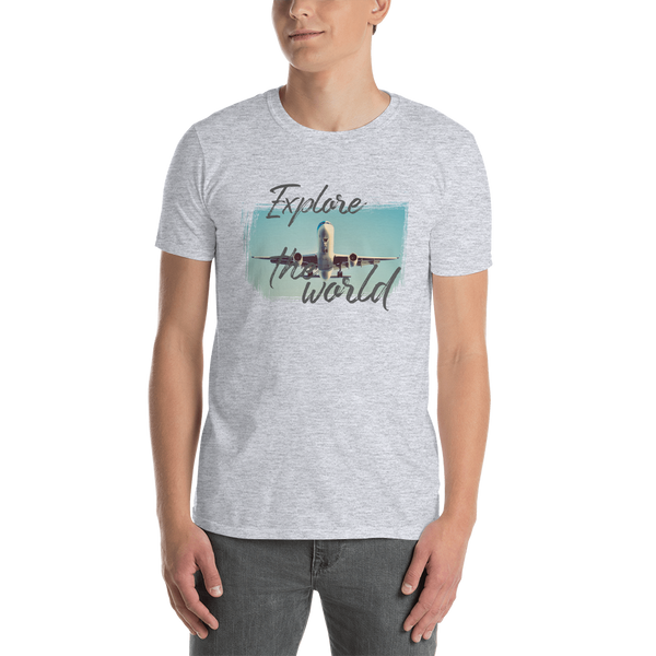 Explore The world003Gildan 64000 Unisex Softstyle T-Shirt with Tear Away Label