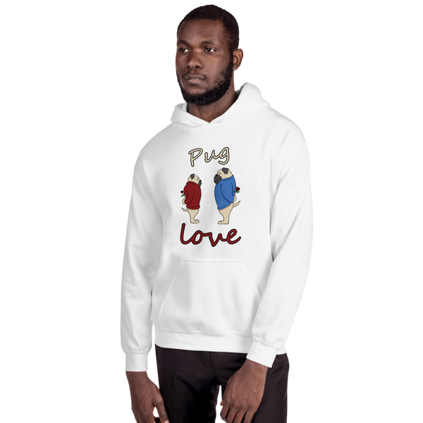 Pug Love08 Gildan 18500 Unisex Heavy Blend Hooded Sweatshirt