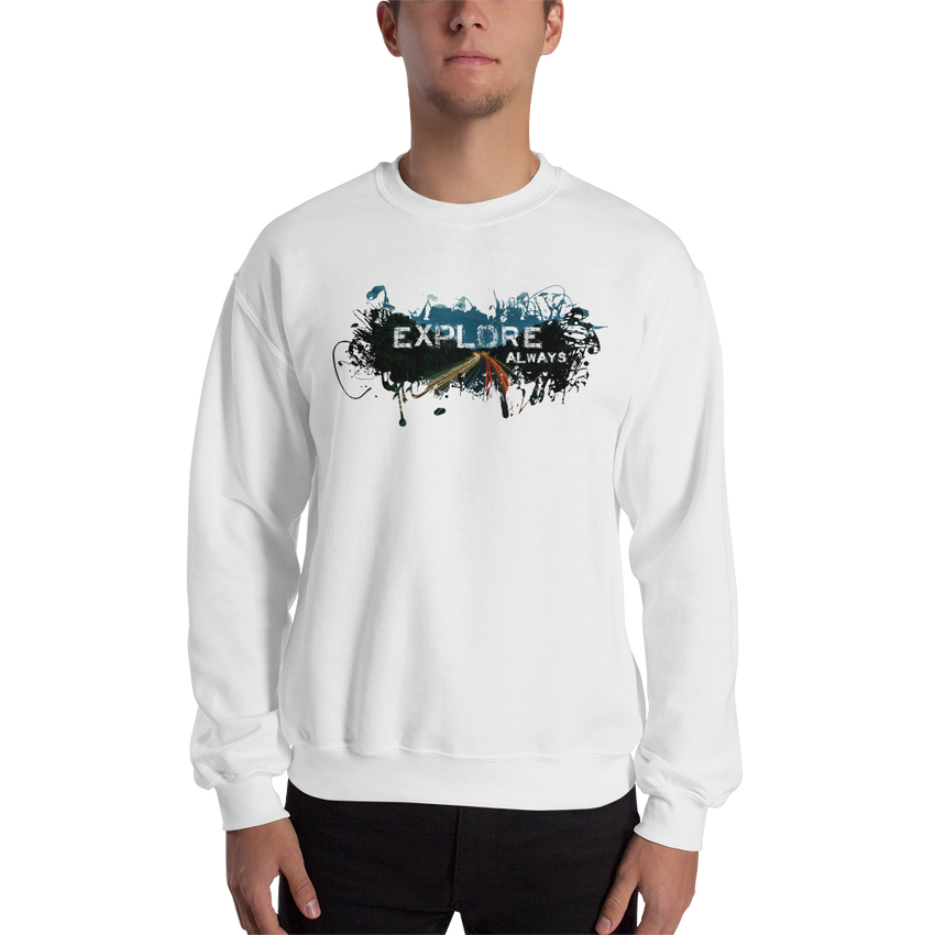 Explore The World004 Sweatshirt Gildan 18000 Unisex Heavy Blend Crewneck Sweatshirt