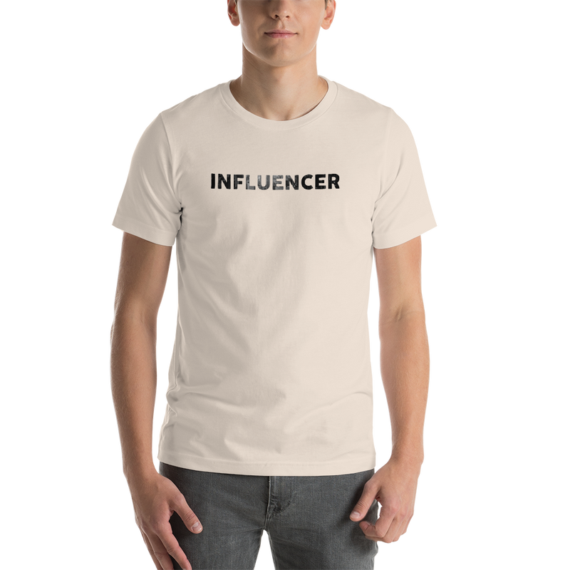 Influencer0048 Bella + Canvas 3001 Unisex Short Sleeve Jersey T-Shirt with Tear Away Label