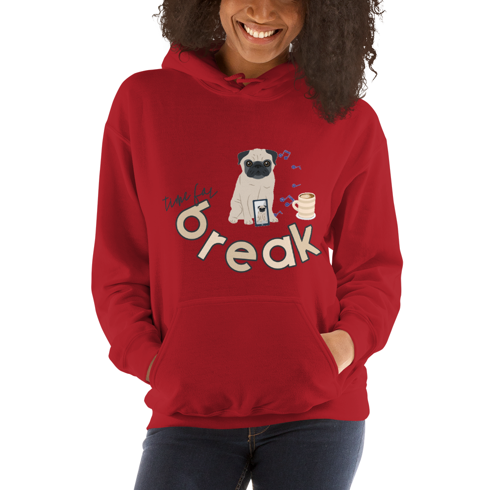 It's Break Time005 Gildan 18500 Unisex Heavy Blend Hooded Sweatshirt