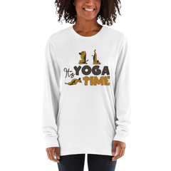 It's Yoga Time048 American Apparel 2007 Unisex Fine Jersey Long Sleeve T-Shirt Comfy style