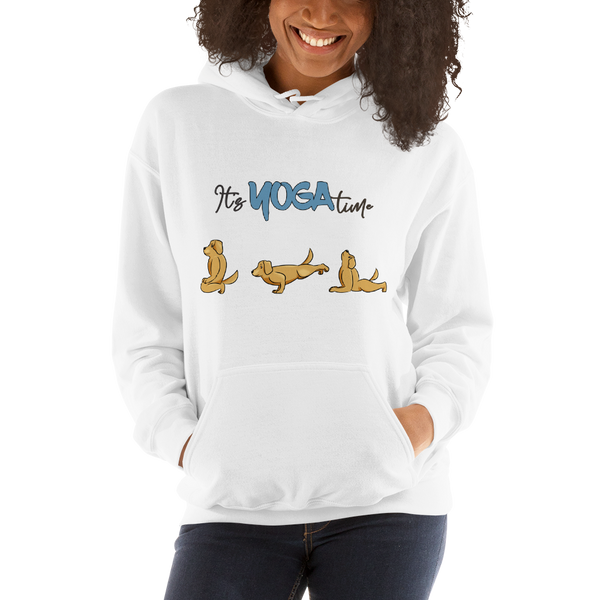 It's Yoga Time007 Gildan 18500 Unisex Heavy Blend Hooded Sweatshirt Heavy blend