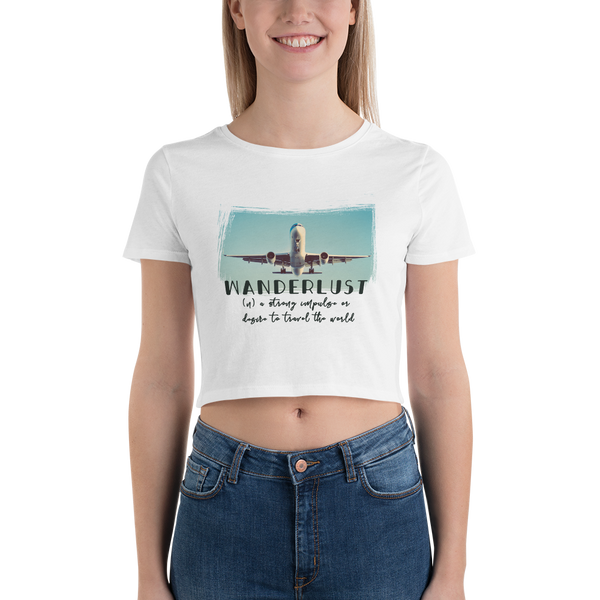 Wanderlust27 Bella + Canvas 6681 Women's Crop Tee Tight fit