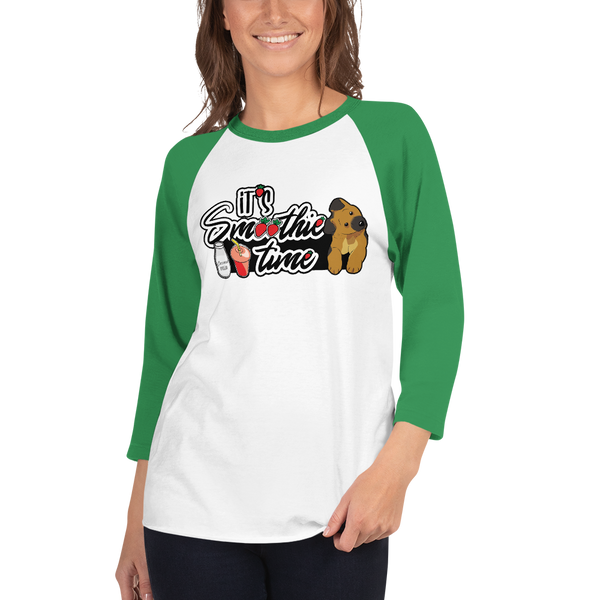 It's smoothie time08 Tultex 245 Unisex Fine Jersey Raglan Tee w/ Tear Away Label