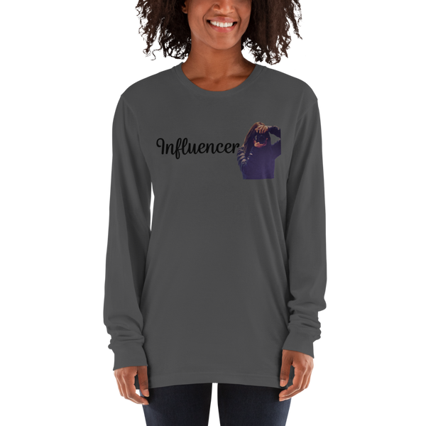 Influencer74 American Apparel 2007 Unisex Fine Jersey Long Sleeve T-Shirt Comfy style