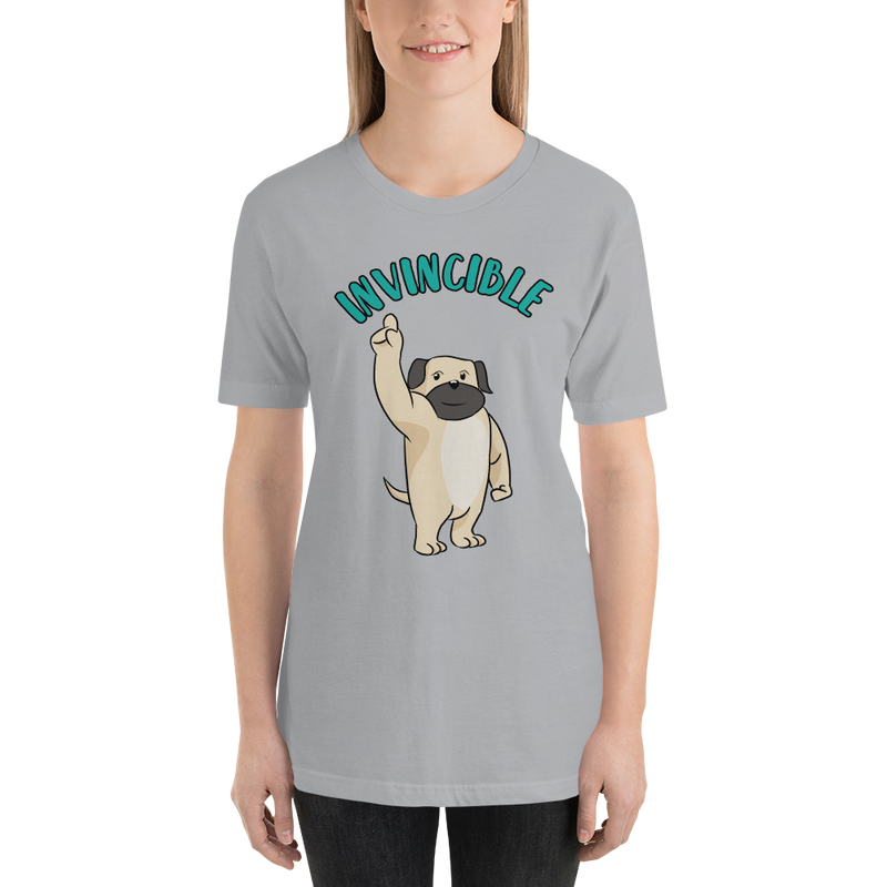 Invincible001 Bella + Canvas 3001 Unisex Short Sleeve Jersey T-Shirt with Tear Away Label