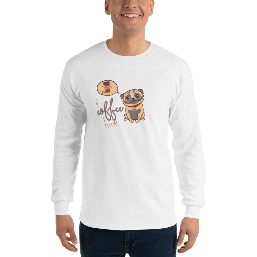 It's Coffee Time038 Gildan 2400 Ultra Cotton Long Sleeve T-Shirt