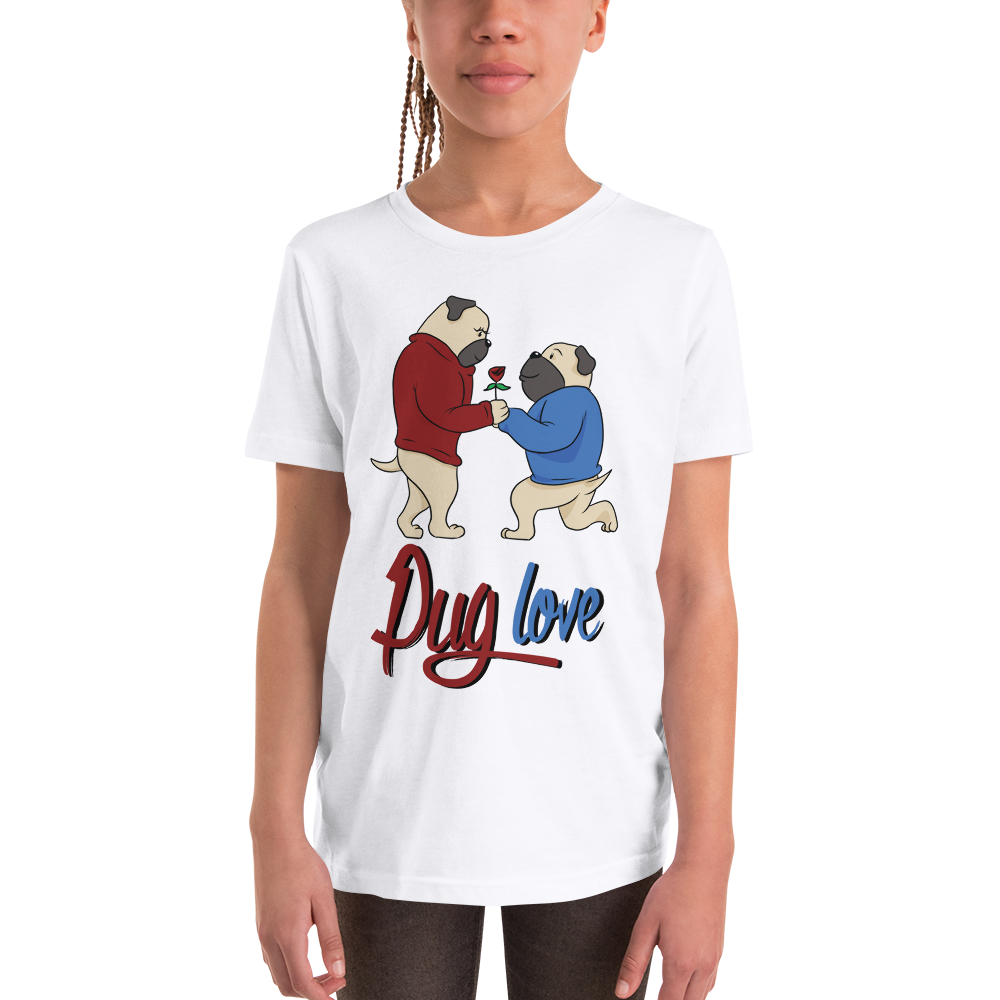 Pug Luv07 Youth Short Sleeve T-Shirt