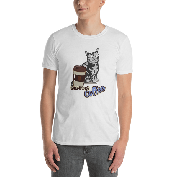 It's coffee time047 Gildan 64000 Unisex Softstyle T-Shirt with Tear Away Label