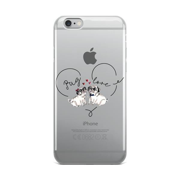 Pug love03 iPhone Case