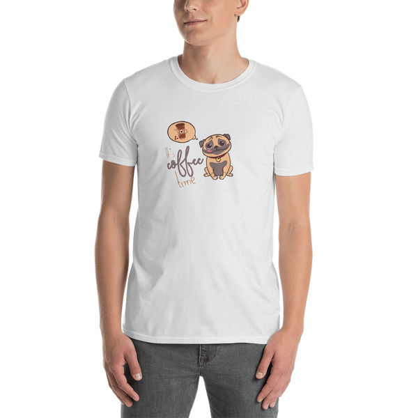 It's coffee time038Gildan 64000 Unisex Softstyle T-Shirt with Tear Away Label