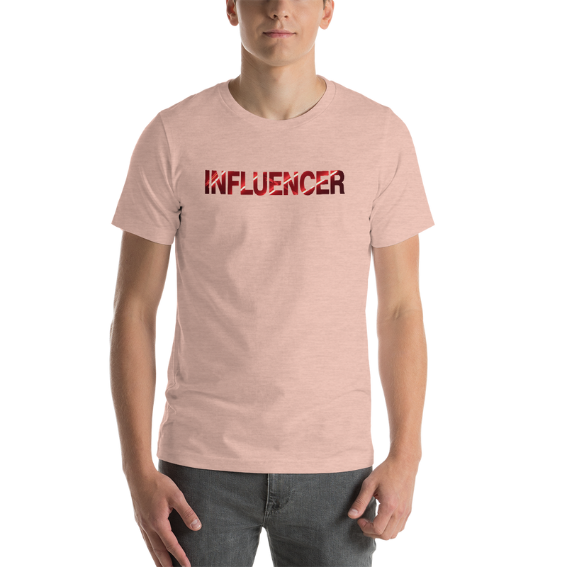 Influencer00144 Bella + Canvas 3001 Unisex Short Sleeve Jersey T-Shirt with Tear Away Label